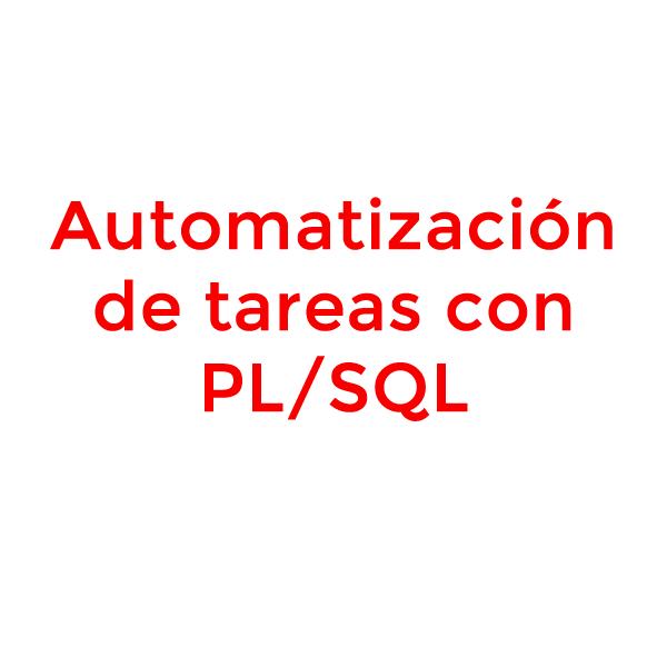 automatizacion de tareas con plsql