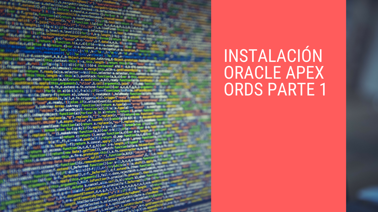 instalación oracle apex