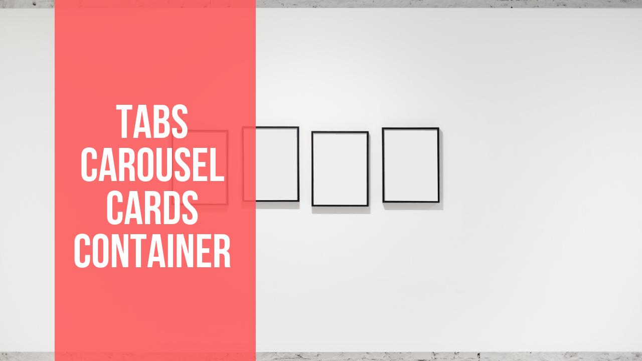 Vídeo 12: Carousel, Tabs, Cards y un poco de Javascript